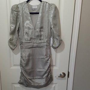 Saylor Madonna Silver Dress XS NWT